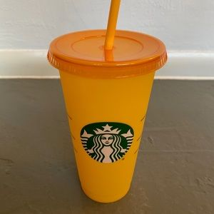 NEW YELLOW Starbucks 2020 Color Changing Cold Cup